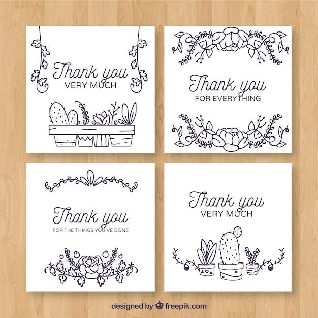 Tarjeta de agradecimiento con cactus | Descargar Vectores gratis