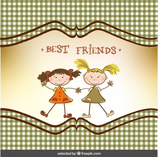 Tarjeta de agradecimiento de mejores amigos | Descargar Vectores gratis