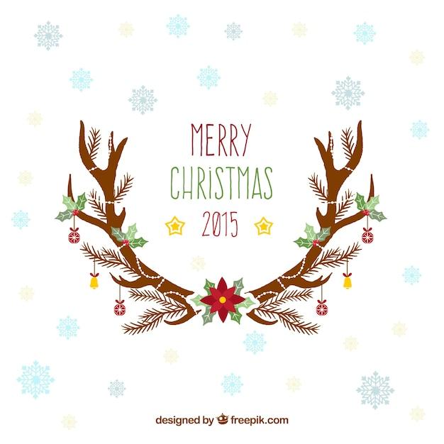 Tarjeta de agradecimiento de navidad 2015 | Descargar Vectores gratis