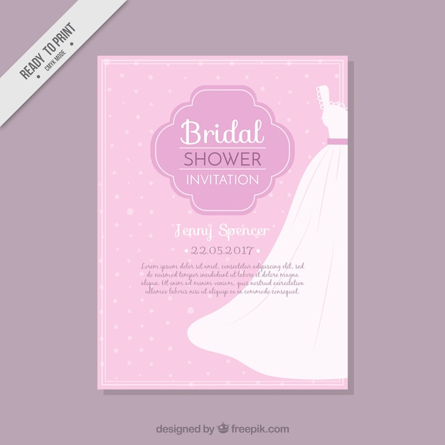 Tarjeta de despedida de soltera con vestido de novia | Descargar ...