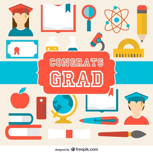 Tarjeta de felicitación de graduación | Descargar Vectores gratis