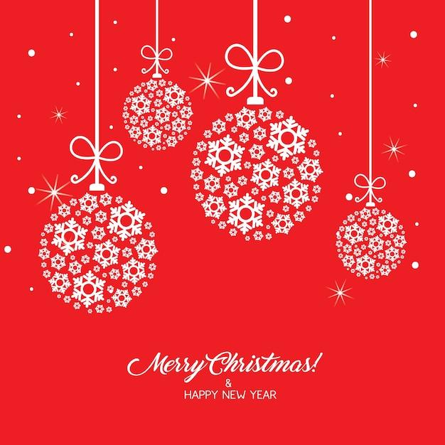 Tarjeta de felicitaci n de la feliz navidad fondo rojo - Ornamentos de navidad ...