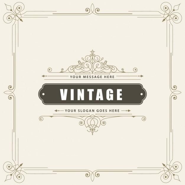 Tarjeta de felicitación ornamental vintage Vector Gratis