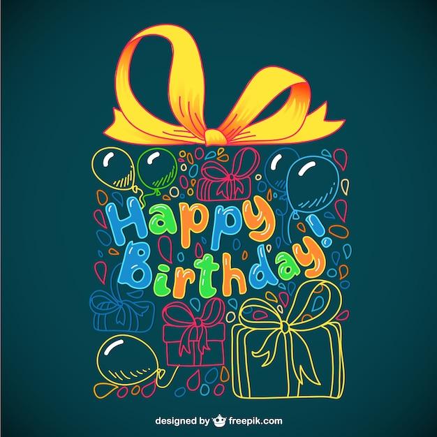 Tarjeta de felicitación para cumpleaños Vector Gratis