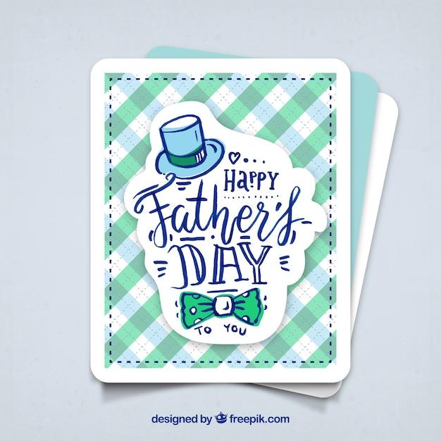 Tarjeta de feliz día del padre  Vector Gratis