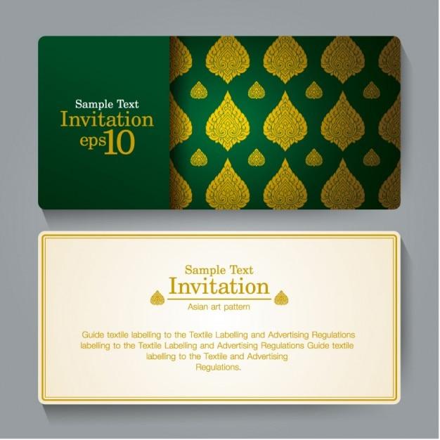 Tarjeta De Invitacion Elegante Diseno Vectorial Descargar