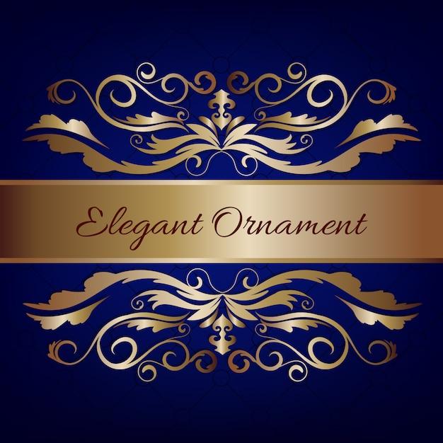 Tarjeta de invitaci n vintage fondo azul de lujo con - Plantillas de decoracion ...