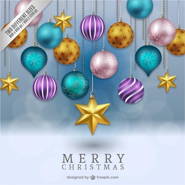 tarjeta de navidad d vector gratis