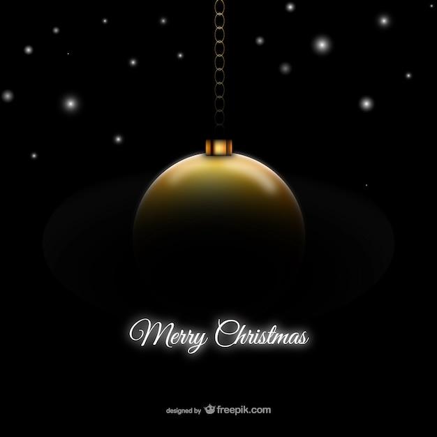 Tarjeta de navidad con bola de navidad dorada descargar - Bolas de navidad doradas ...