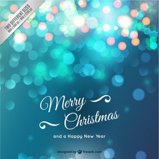 tarjeta de navidad con destellos vector gratis