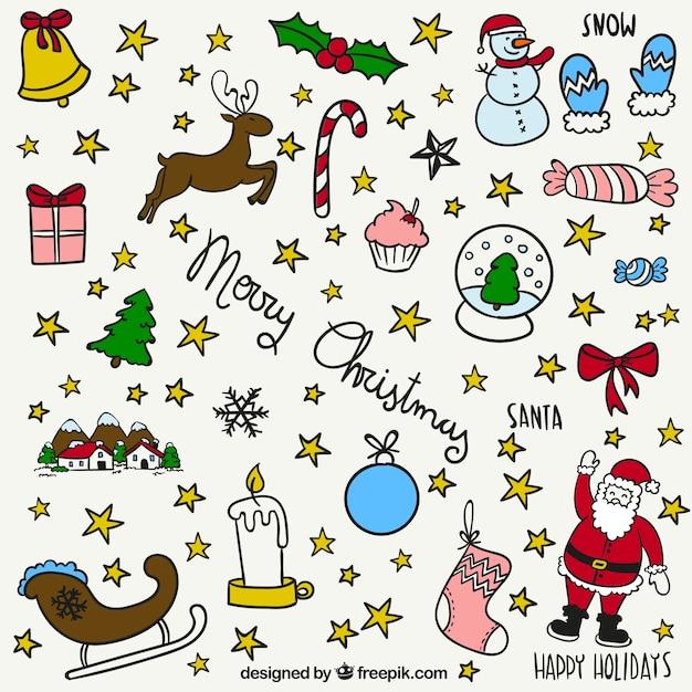 tarjeta de navidad con dibujos de color turquesa