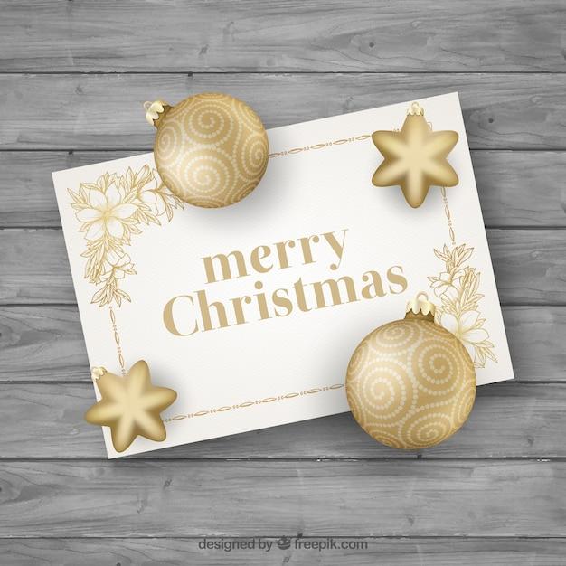 Tarjeta de navidad dorada elegante descargar vectores gratis - Tarjetas de navidad elegantes ...