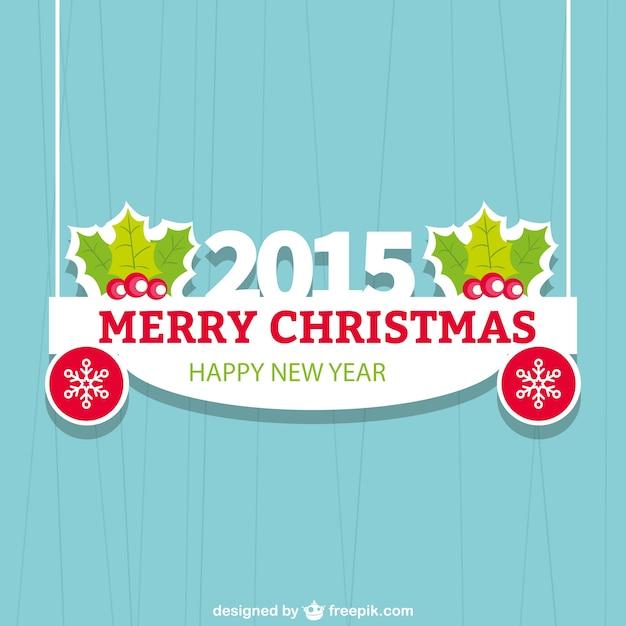 tarjeta de navidad plana de