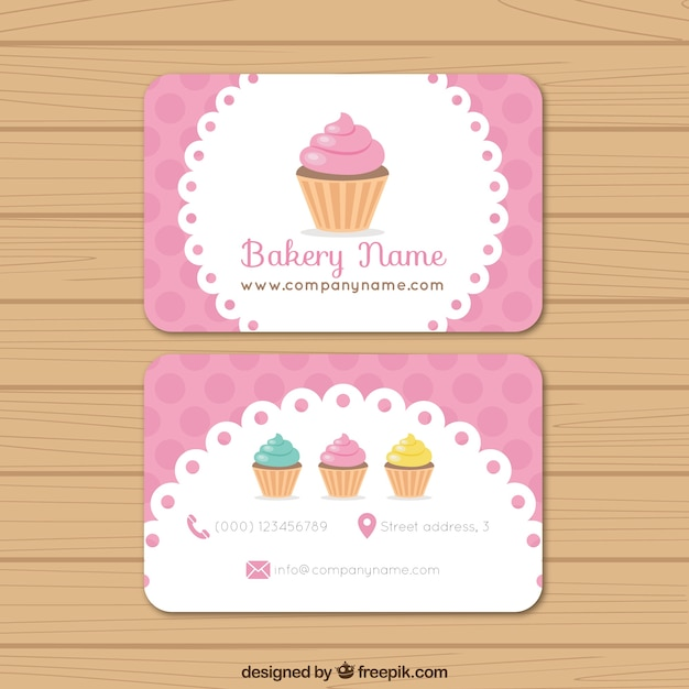 tarjeta de negocios de pastelera