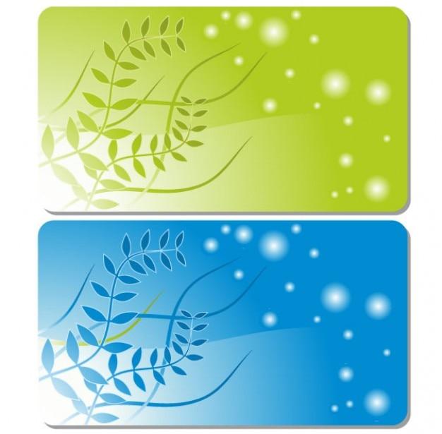 tarjeta de visita de la plantilla vector floral descargar vectores