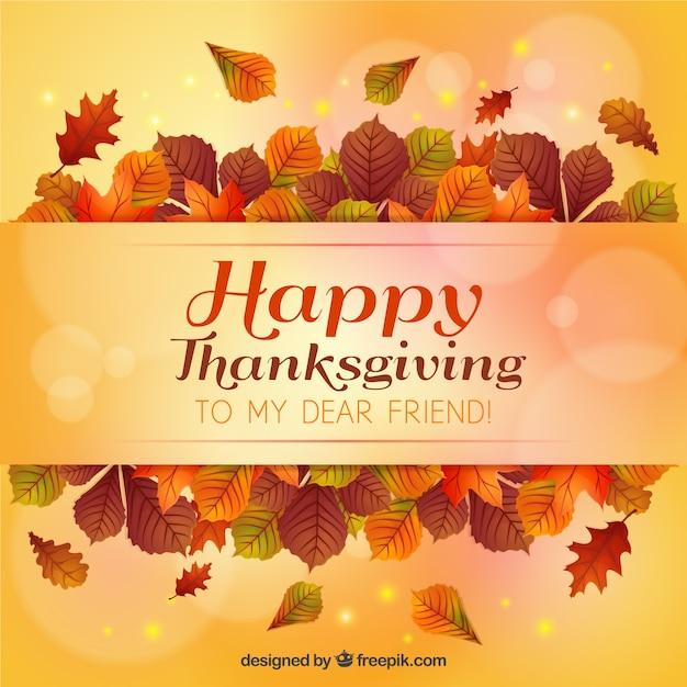 Happy Thanksgiving Quotes For Employees: Tarjeta Del Día De Acción De Gracias De Hojas Y Efecto