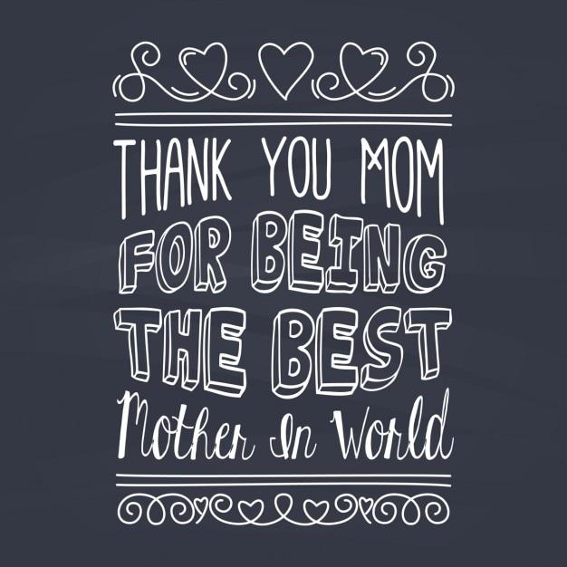 Tarjeta Del Día De La Madre Con Frase Emotiva Con Tiza