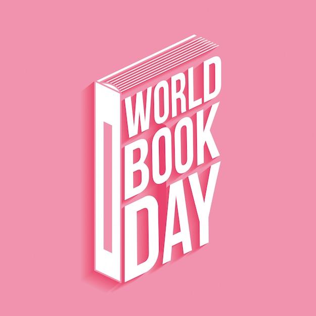 Tarjeta del día mundial del libro Vector Premium