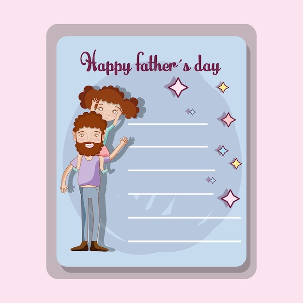 Tarjeta Del Día Del Padre Para Celebrar Un Día Especial