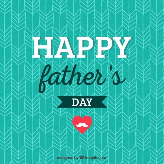 Tarjeta Del Día Del Padre Para Imprimir Vector Gratis