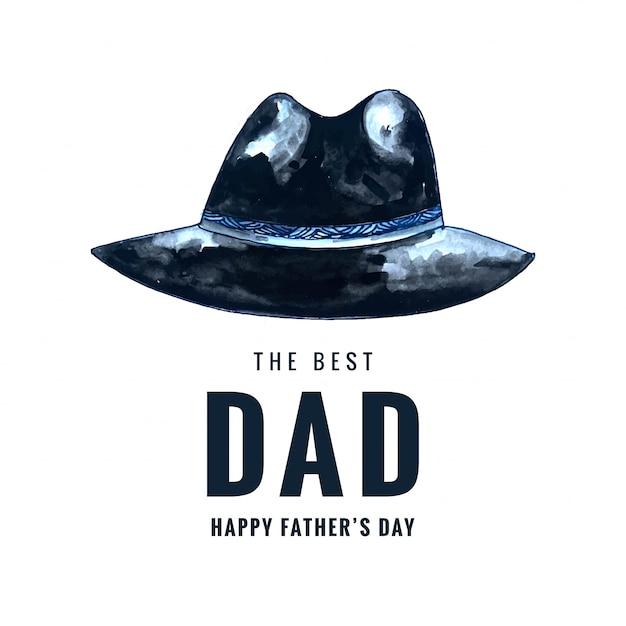 Tarjeta del día de padres feliz vector gratuito