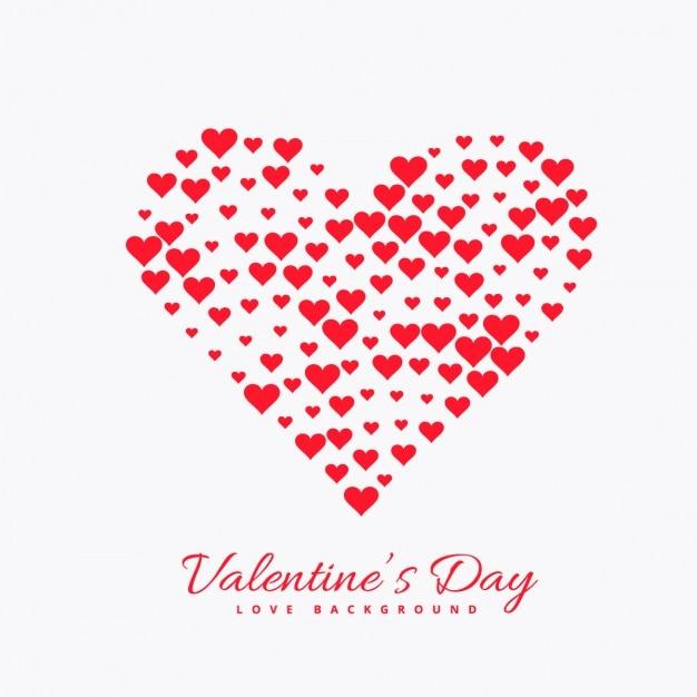 Tarjeta De Día De San Valentín Con Corazón Hecho Con Corazones