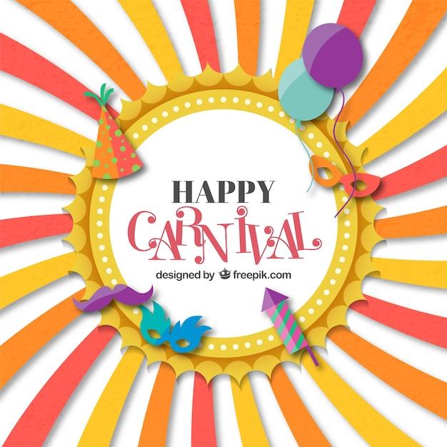 Tarjeta Divertida De Carnaval Vector Gratis