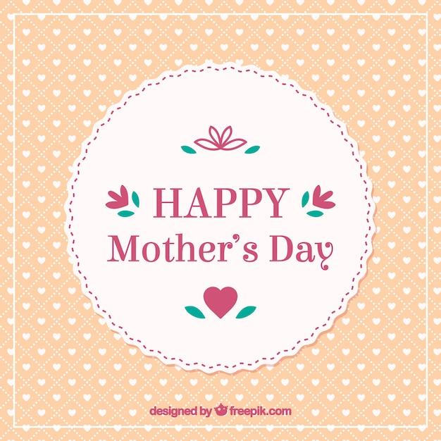 Tarjeta elegante retro día de madres feliz vector gratuito