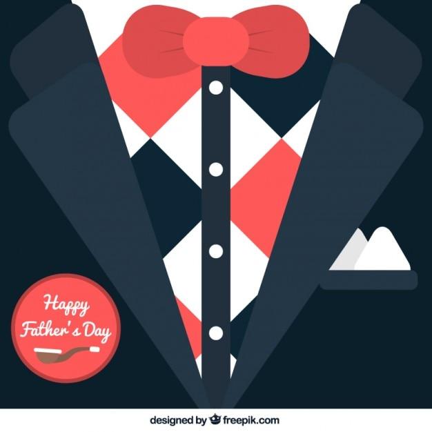 Tarjeta De Esmoquin Para El Día Del Padre Vector Gratis