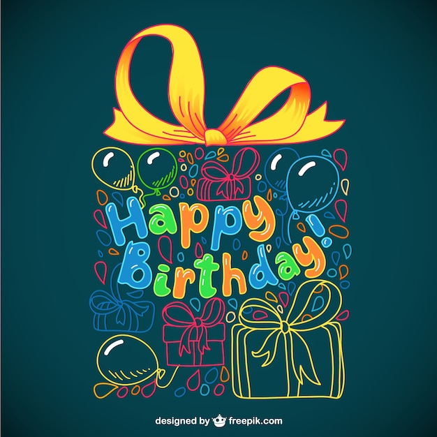 Tarjeta de felicitación para cumpleaños vector gratuito
