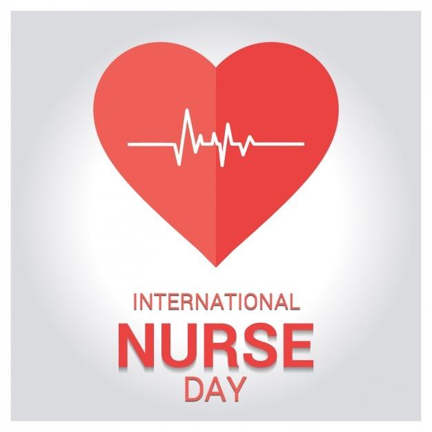 Tarjeta de felicitación por el día internacional de la enfermera vector gratuito