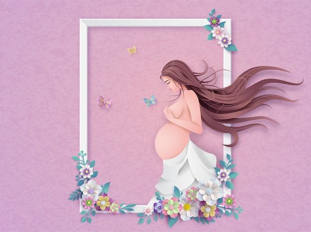 Tarjeta de felicitación feliz del día de madre. Vector Premium