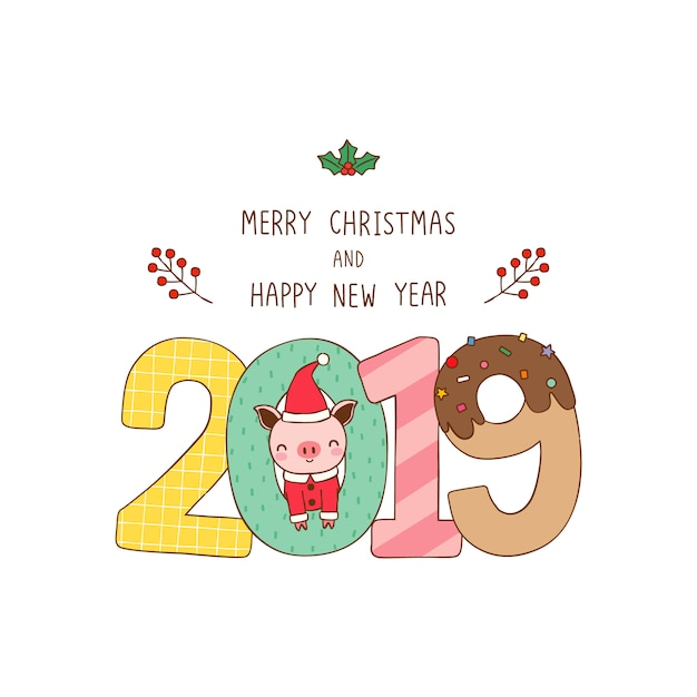 Imagenes Felicitacion Navidad 2019.Tarjeta De Felicitacion Feliz Navidad Y Feliz Ano Nuevo 2019
