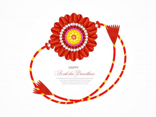 Tarjeta de felicitación feliz de raksha bandhan Vector Premium
