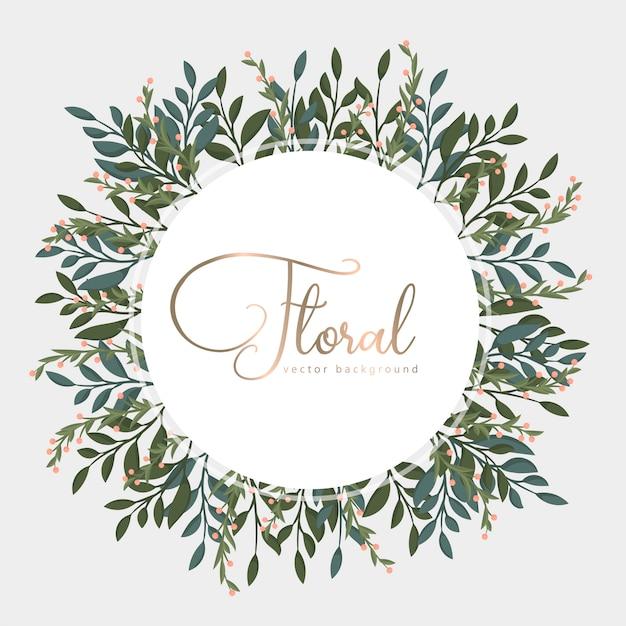 Tarjeta de felicitación con hojas doradas, corona. vector gratuito