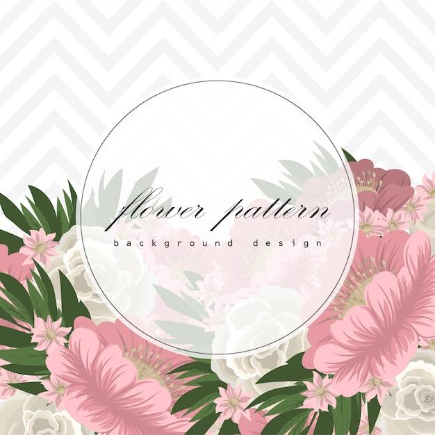 Tarjeta de felicitación con marco de rosas vector gratuito