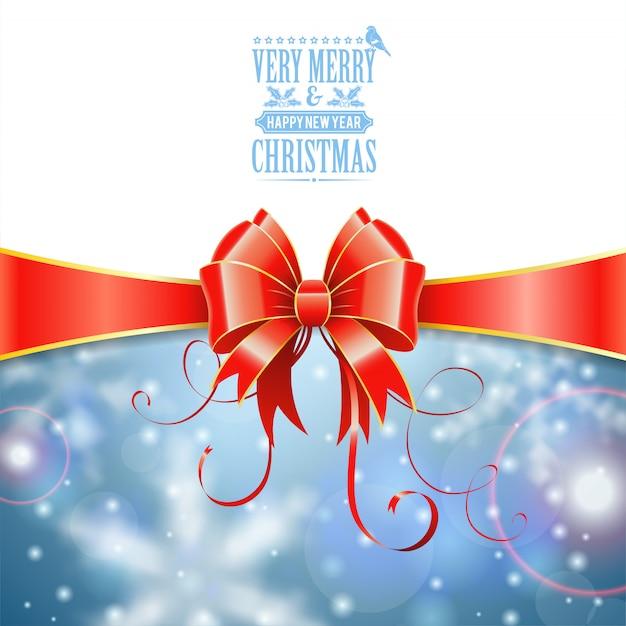 Tarjeta de felicitación de navidad Vector Premium