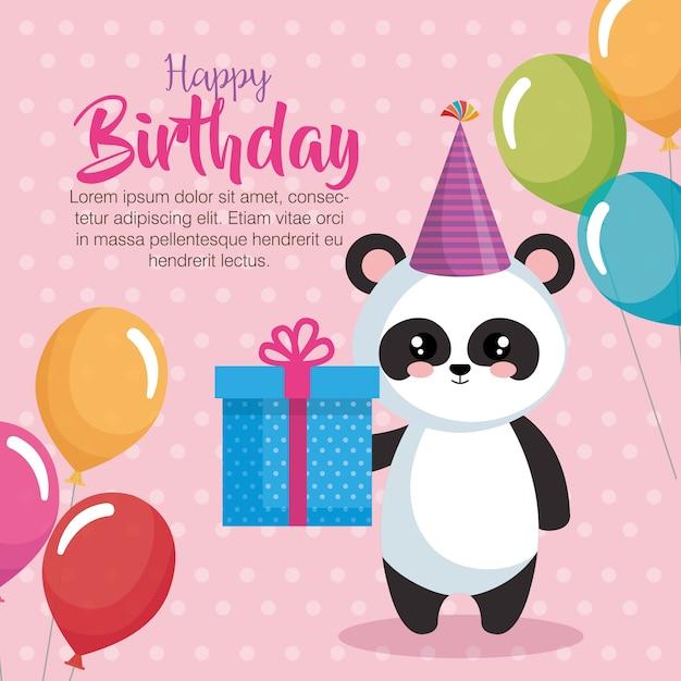 Feliz cumpleanos amor oso panda
