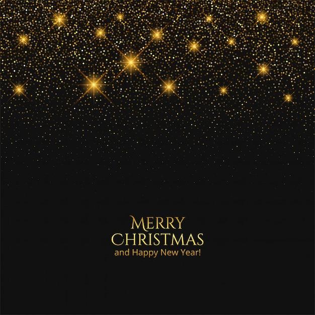 Tarjeta de feliz navidad con brillos brillantes vector gratuito