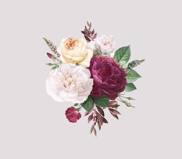 Tarjeta floral vector gratuito