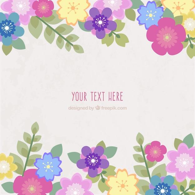 Tarjeta flores de primavera Descargar Vectores gratis