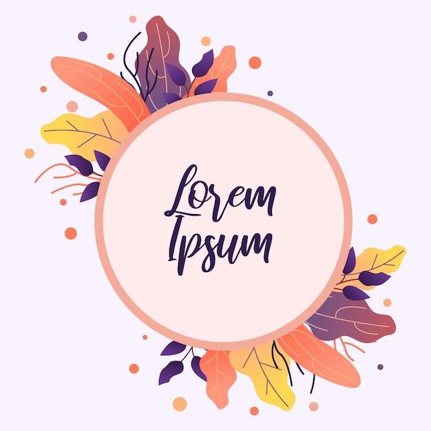 Tarjeta de flores perfecto para invitaciones de boda y tarjetas de cumpleaños. Vector Premium
