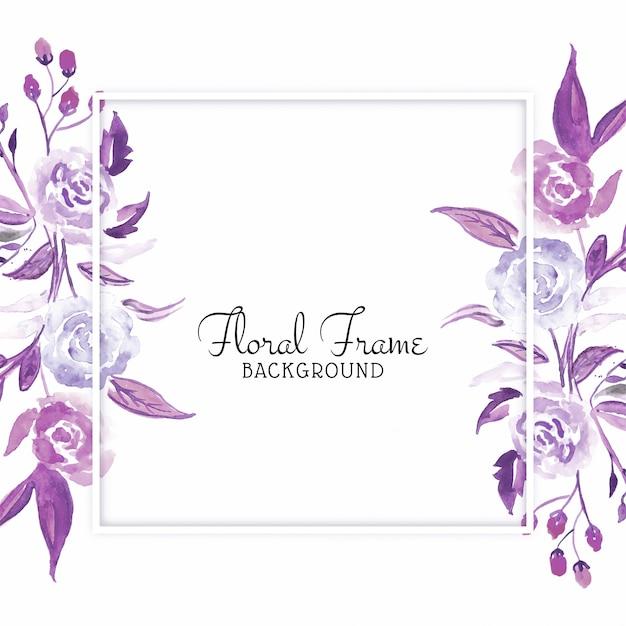 Tarjeta hermosa flor acuarela vector gratuito