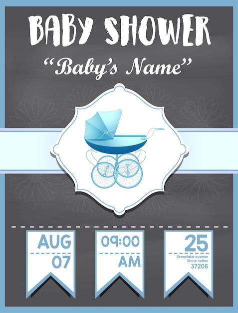 Tarjeta De Invitación De Baby Shower Para Diseño De Niño