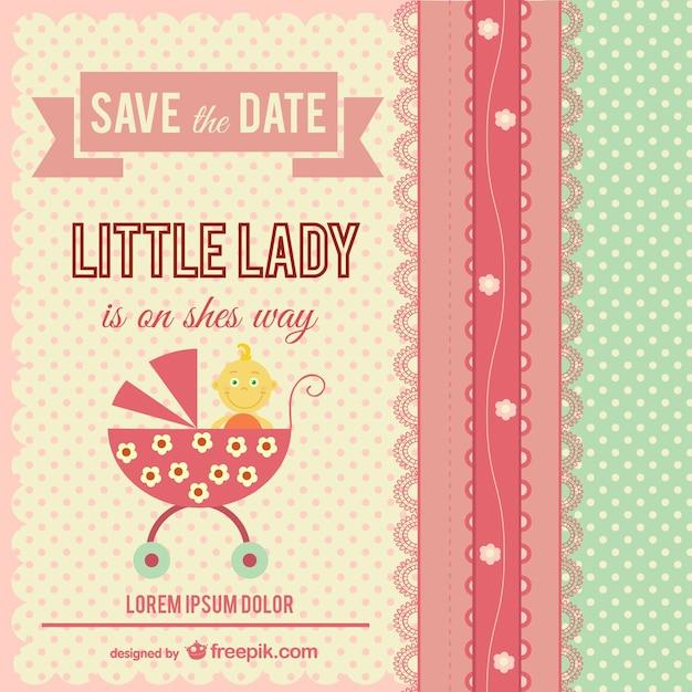 Tarjeta De Invitación Para Bebé Vector Gratis