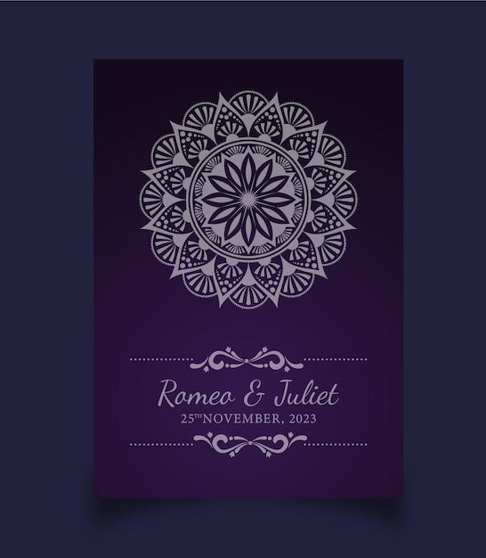 Tarjeta de invitación de boda colorida abstracta Vector Premium