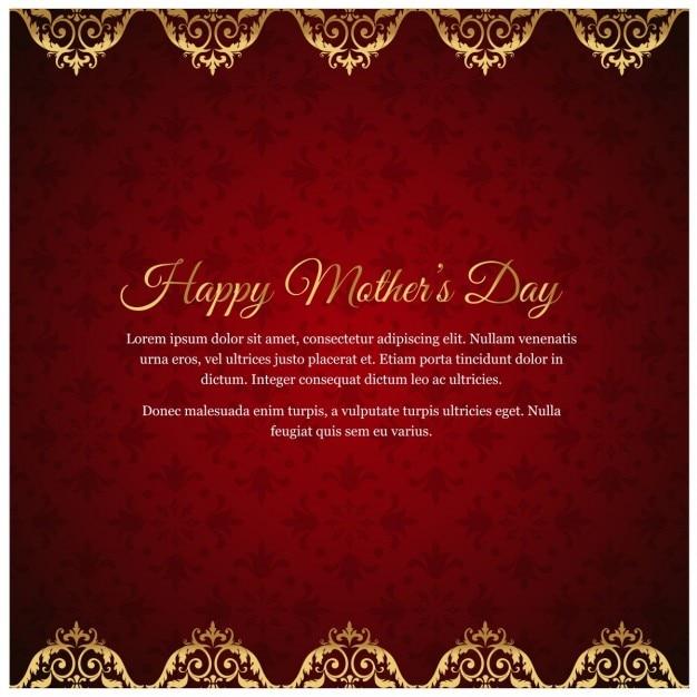 Tarjeta De Invitación Día De La Madre Vector Gratis