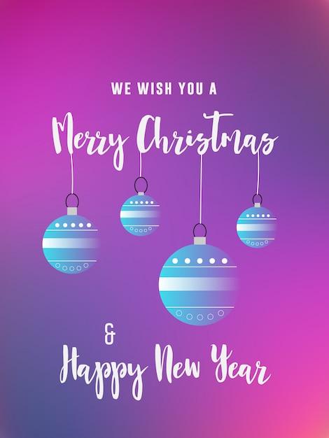 Tarjeta De Invitación De Felicitación De Navidad Y Año Nuevo