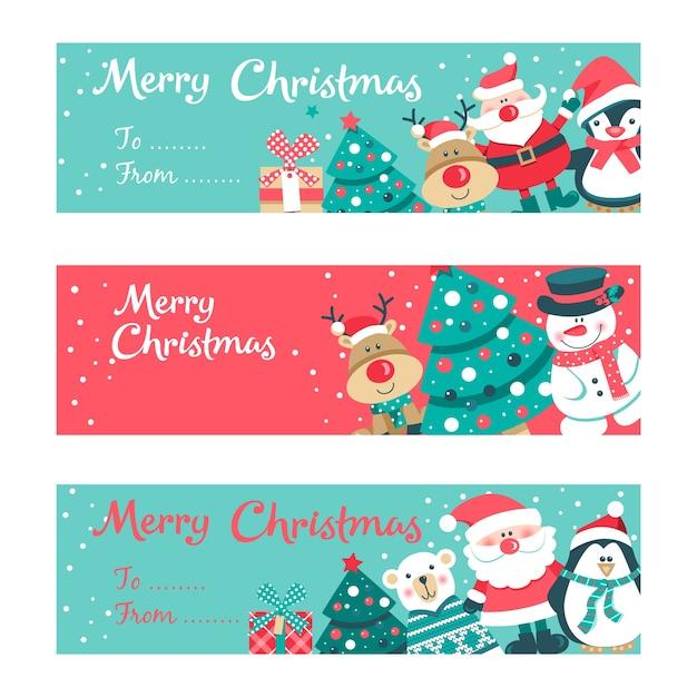 Tarjeta De Invitación De Feliz Navidad Vector Premium