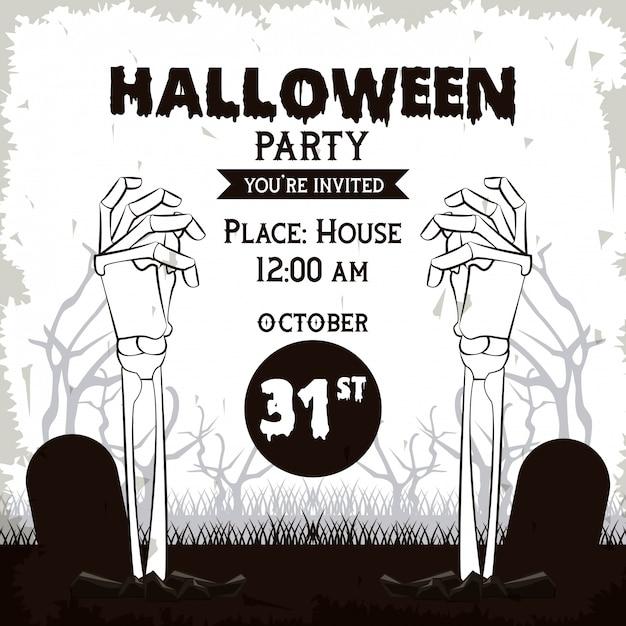 Tarjeta De Invitación De Fiesta De Halloween Descargar